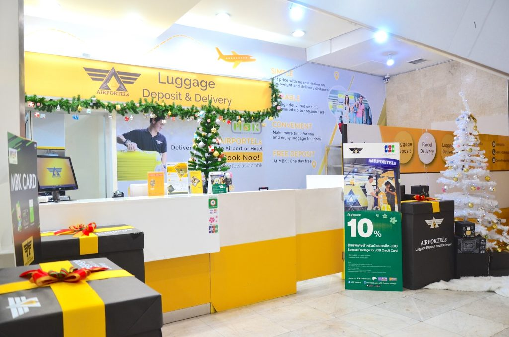 mbk,airportels,luggage deposit,luggage delivery,luggage storage at mbk center
